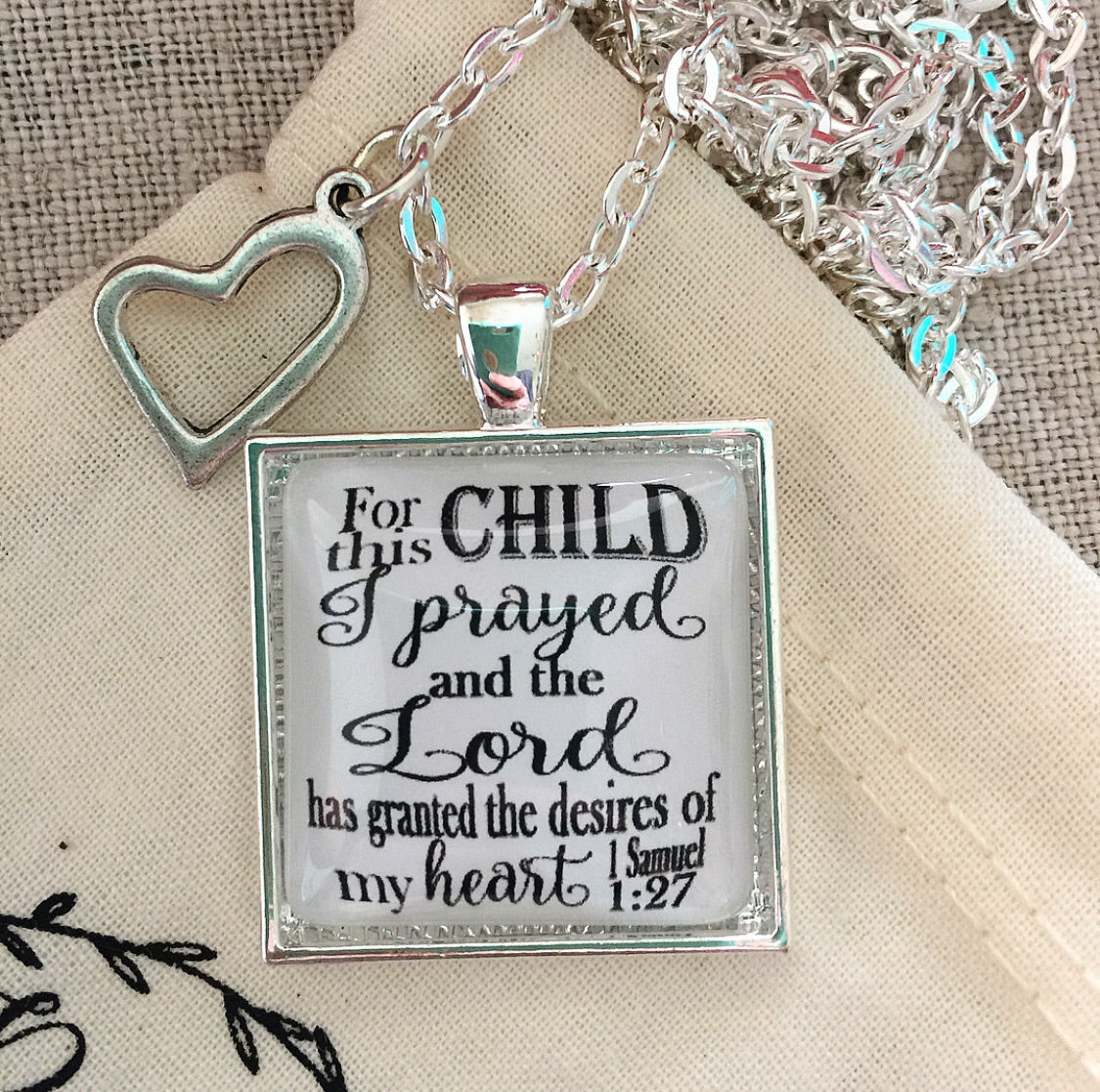 For This Child I Have Prayed 1 Samuel 1:27 Necklace - Redeemed Jewelry