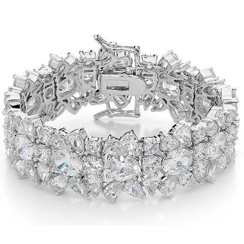 Charlize cluster bridal statement formal cz cuff