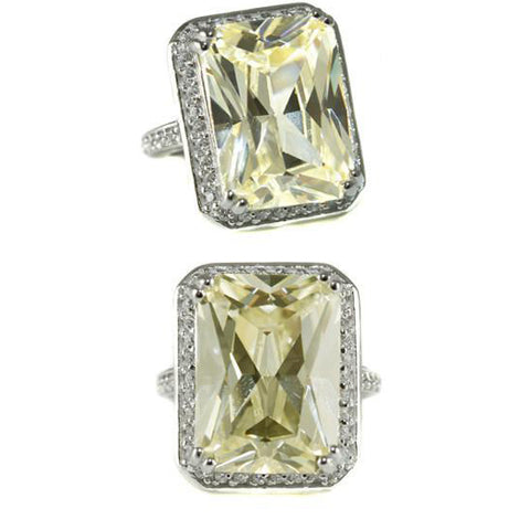 Citrene Jumbo Cocktail Ring Yellow Beyonce