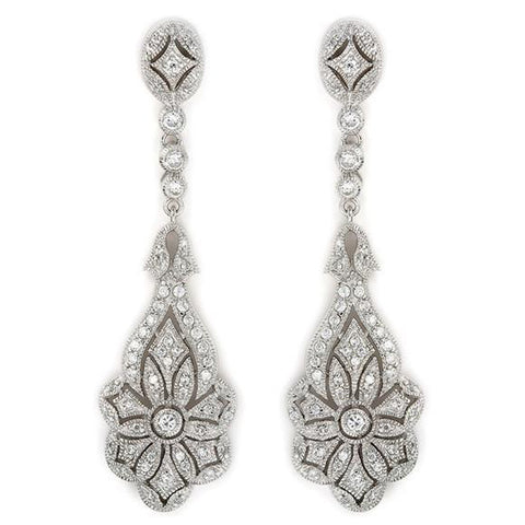 E11 Belle Vintage Sterling Silver Chandelier Earrings