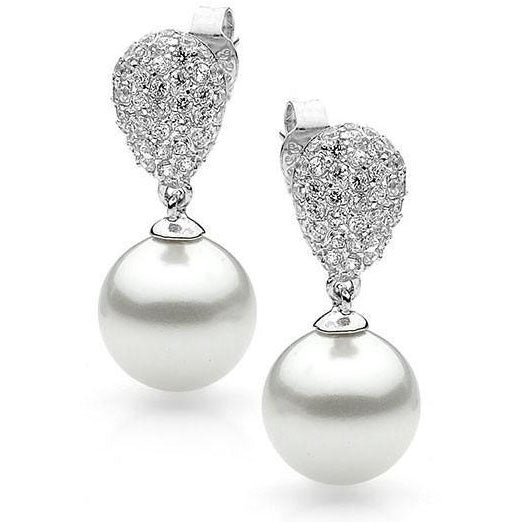 E12 Society Bling Pearl Sterling Silver Earrings