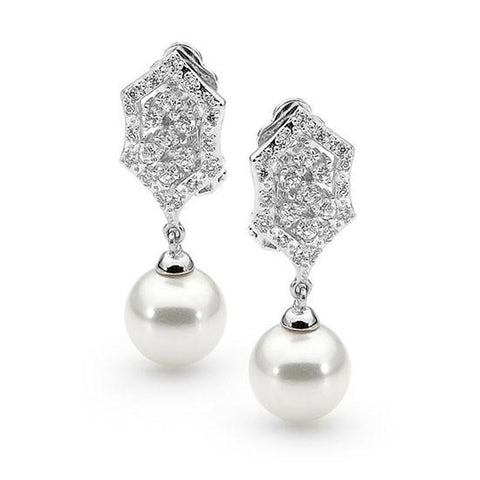 E33 Faith Vintage Clip On Pearl Earrings