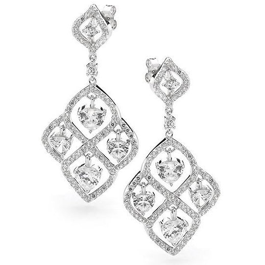 E34 Carrie 925 Sterling Silver Chandelier Earrings