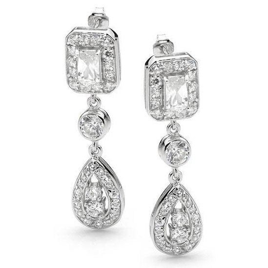 E35 Art Deco Elegance 925 Sterling Silver Earrings