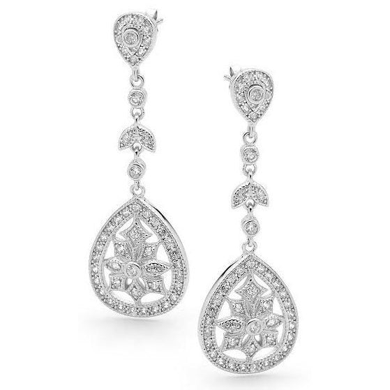 E36 Jennifer Princess Bridal Earrings