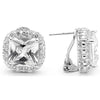 E64 Georgiana 925 Sterling Silver Earrings Clear