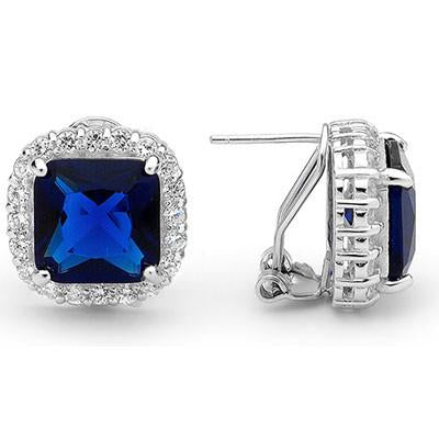 E65 Georgiana 925 Sterling Silver Earrings Sapphire