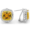 E67 Georgiana 925 Sterling Silver Earrings Canary Yellow
