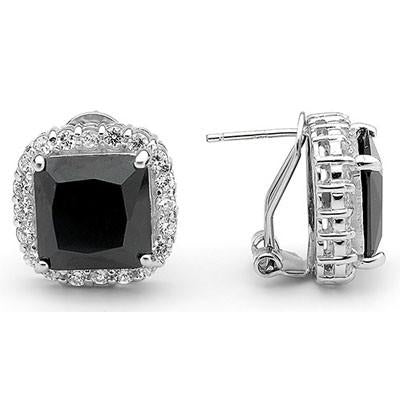 E68 Georgiana 925 Sterling Silver Earrings Black Onyx
