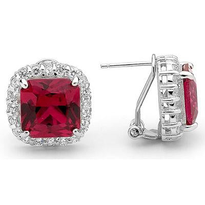 E69 Georgiana 925 Sterling Silver Earrings Ruby