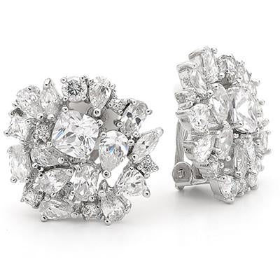 E71 Diaz Clear Earrings Clip Ons