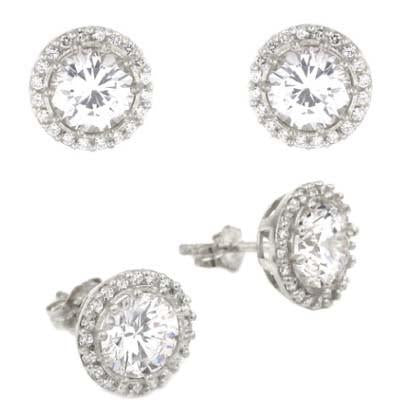 E76 Nicole Inspired Stud Earrings  925 Sterling Silver