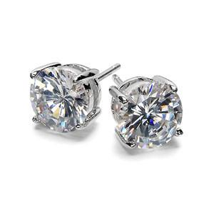 E24 6 mm 1 carat 925 Sterling Silver Studs