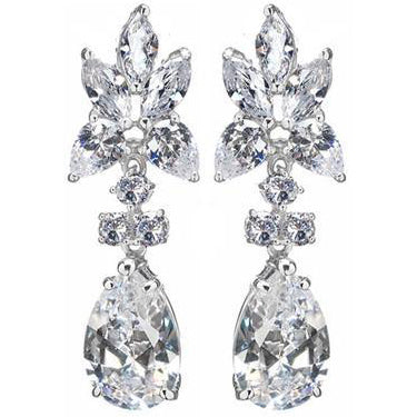 E26 Eva Red Carpet Earrings Clear