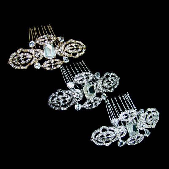 H18 Deco Dream Crystal Hair Comb Slide