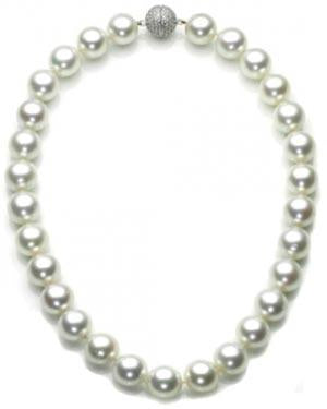 N5 Bridal White South Sea Shell Pearl Necklace