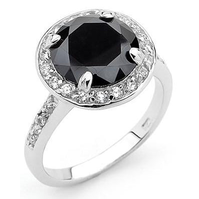 Samantha sex in the city mr big carrie engagement ring sterling silver black onyx