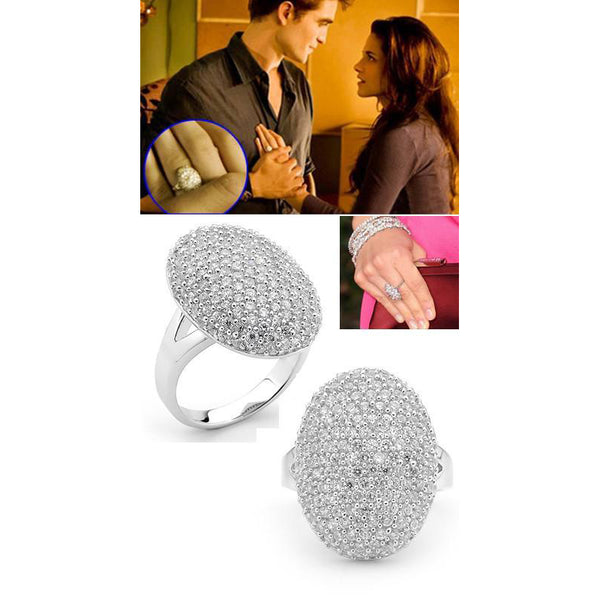 Twilight movie bella engagement ring sterling silver edward Cullen