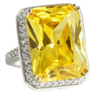 Beyonce Sterling Silver Cocktail Ring Canary - R10