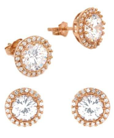 E75 Nicole Inspired Stud Earrings Rose Gold