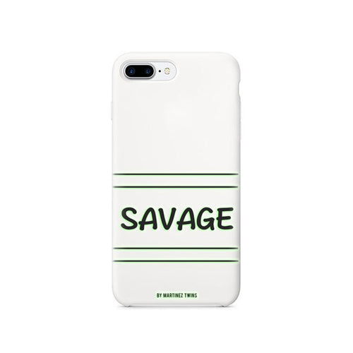 White Savage iPhone 7 and 8 Case