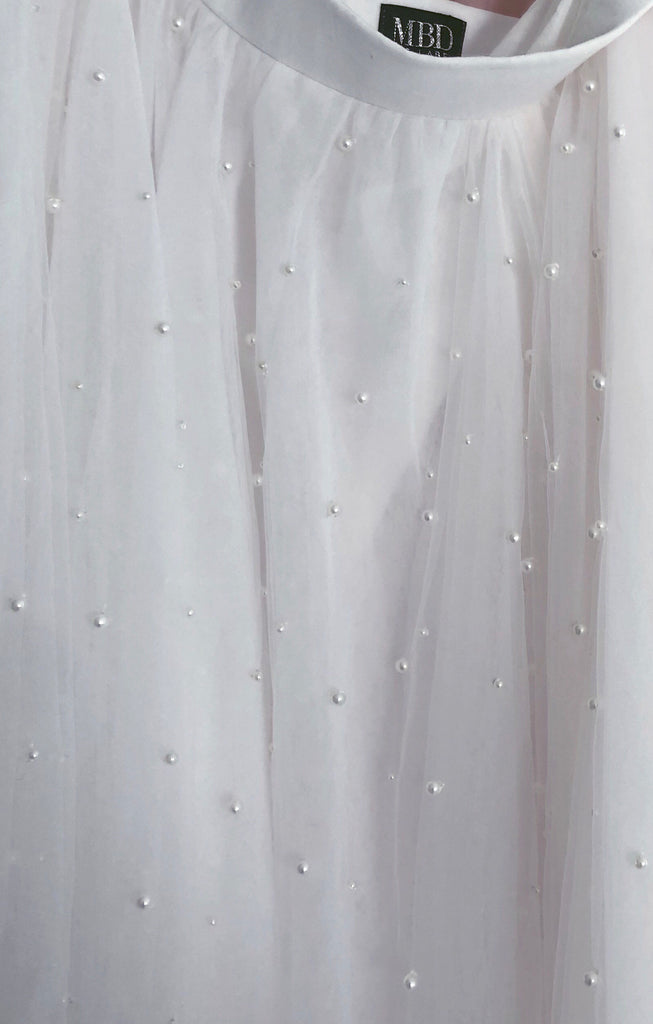 Haute Tulle Pearl - Long Ivory Adults Tulle Skirt