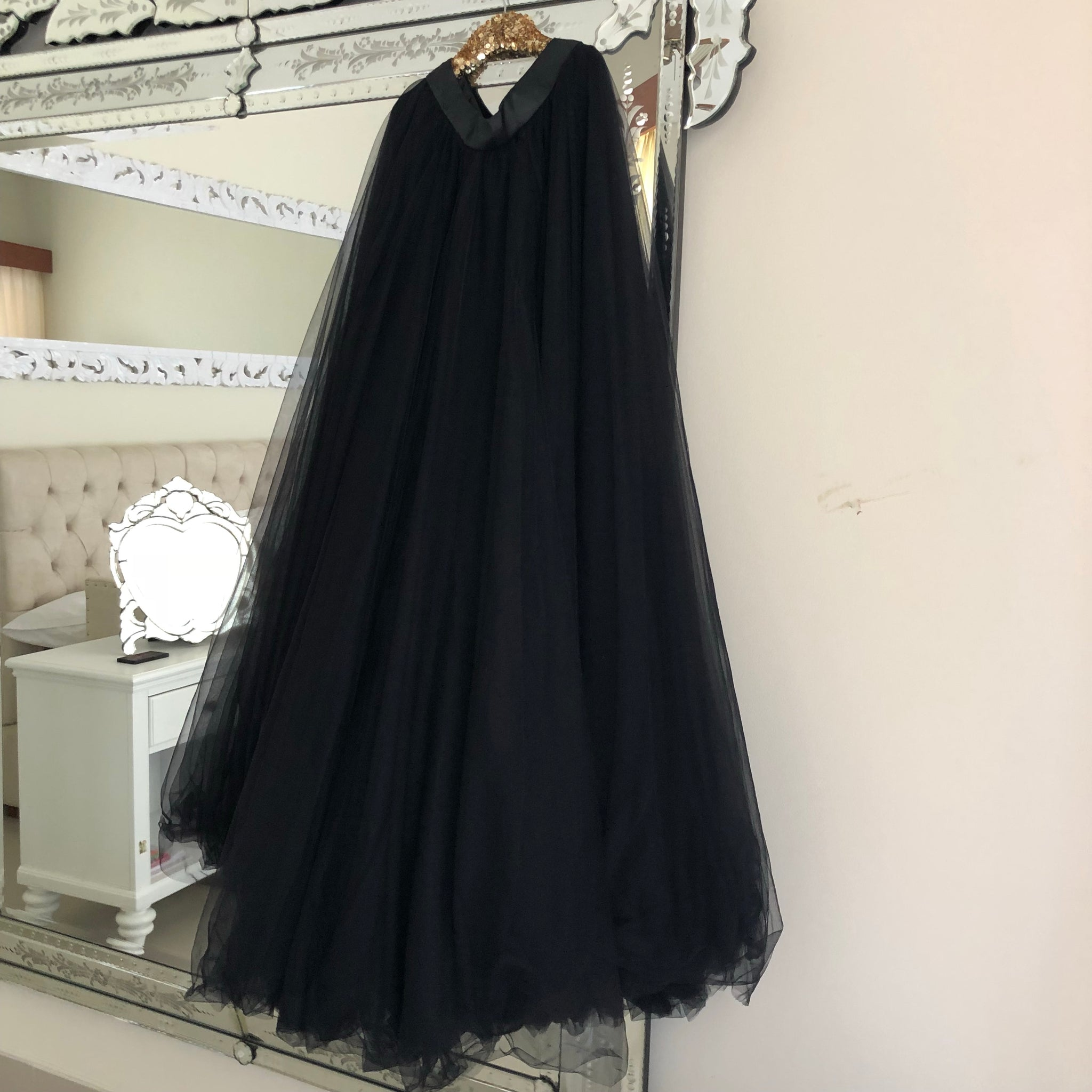 Haute Tulle - Long Black Adults Tulle Skirt