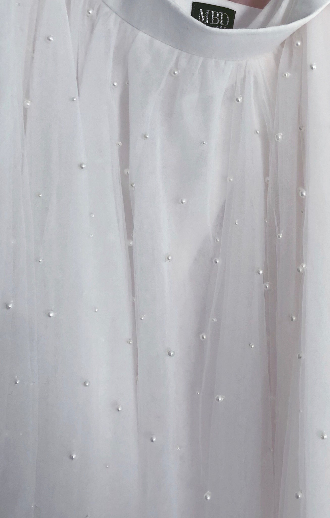 Haute Tulle Pearl - Mini Length Ivory Adults Tulle Skirt