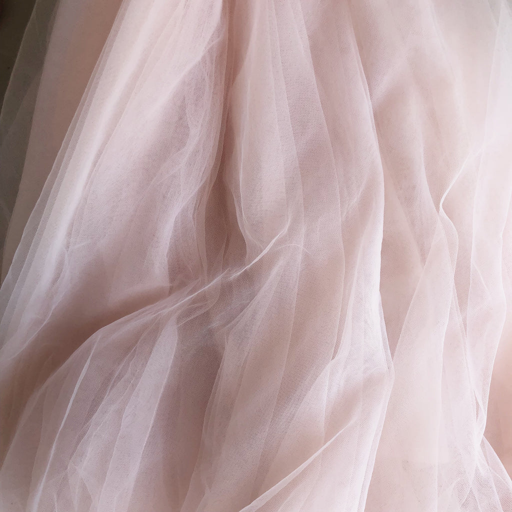 Haute Tulle - Knee Length Nude Pink Adults Tulle Skirt