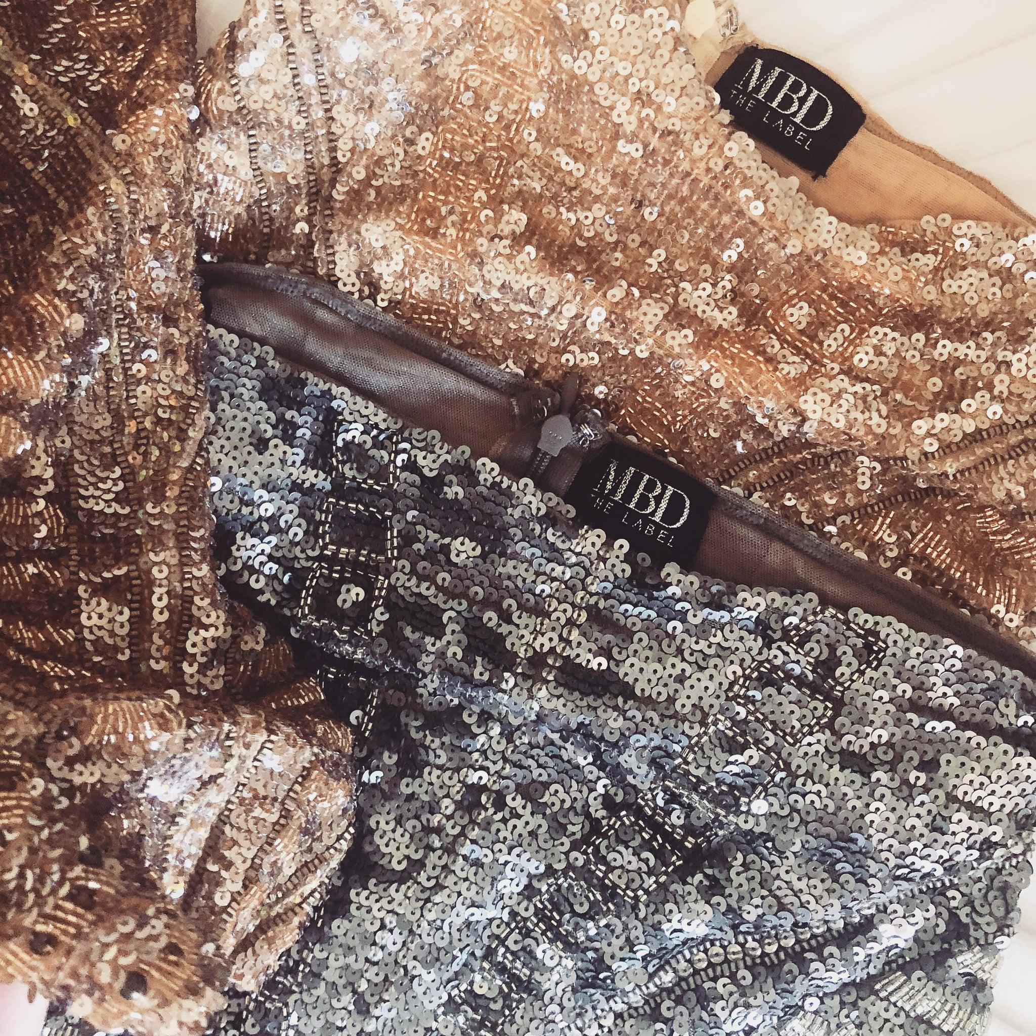 Bodycon Sequin ROSE GOLD MINI (Short)