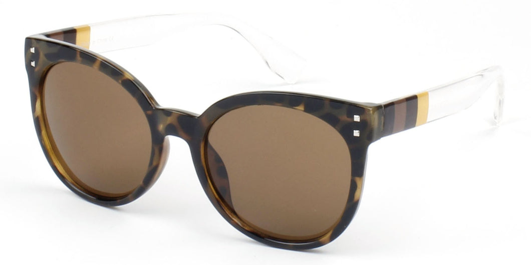 Women Retro Vintage Round Cat Eye Oversized UV Protection Fashion Sunglasses