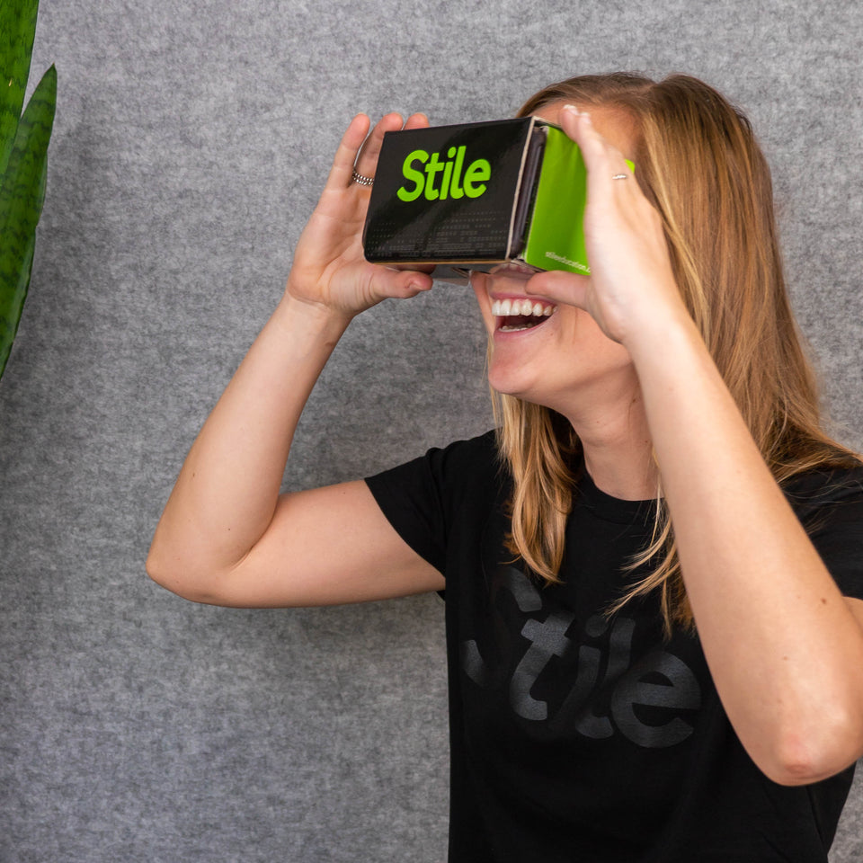 Sarah using a VR headset
