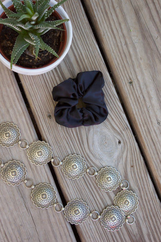 Black silk scrunchy