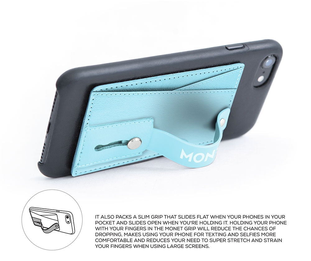 Monet Ultra Grip 3-in-1 Smart Phone Wallet | Card Holder | Kickstand | Baby Blue