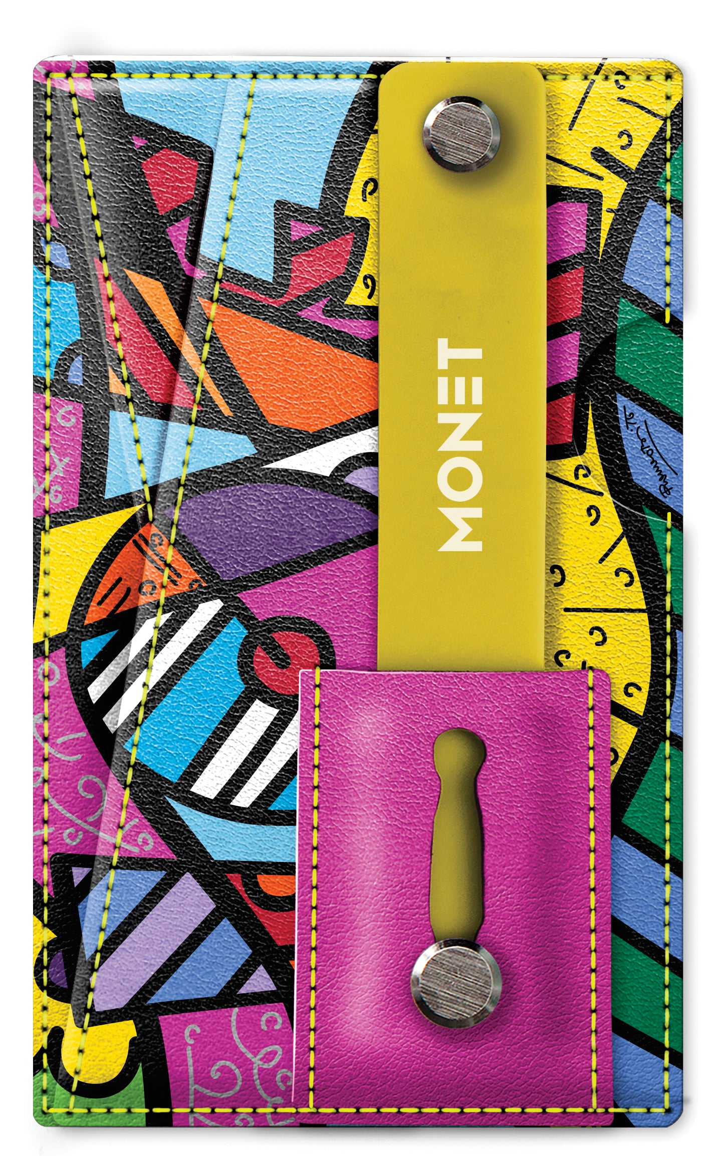 Monet Ultra Grip | Britto Pink and Yellow Words