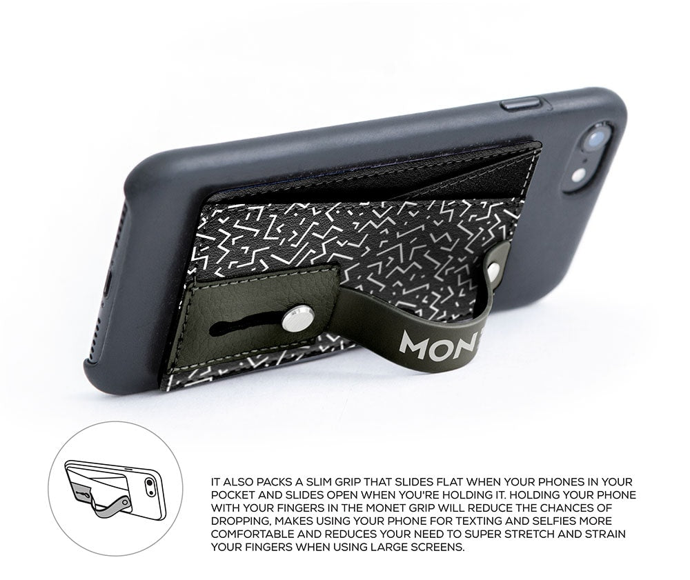 Monet Ultra Grip | Patterns Black Angles