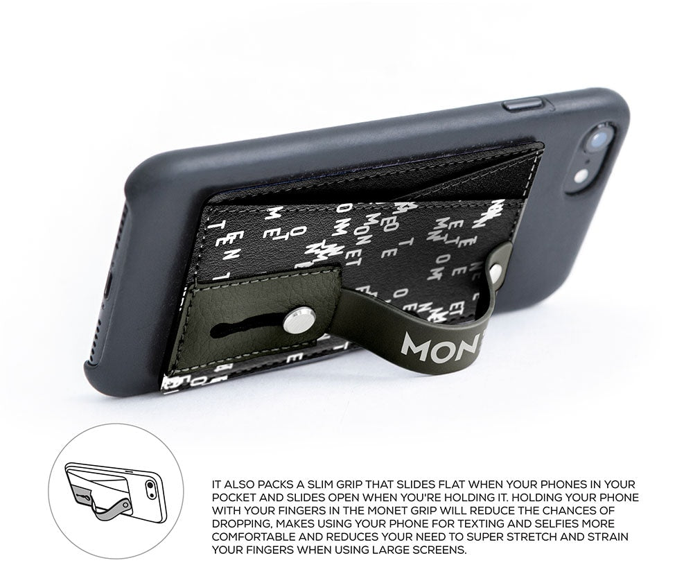 Monet Ultra Grip 3-in-1 Smart Phone Wallet |  Holder | Kickstand | Pattern