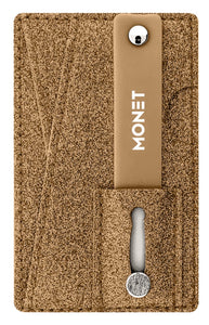 Monet Smartphone Slim Wallet w/Ultra Grip | Card Holder | Kickstand | Brown Glitter