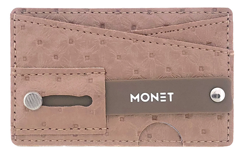 Monet Smartphone Slim Wallet w/Ultra Grip | Card Holder | Kickstand | Dark Silver Glitter