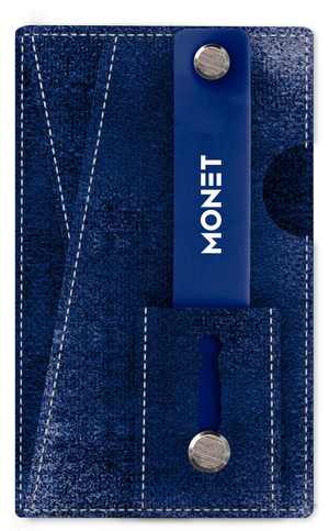 Monet 3-in-1 Velvet Smart Phone Slim Wallet | Card Holder | Kickstand