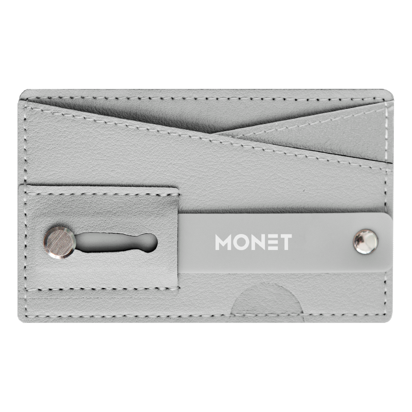 Monet Ultra Grip 3-in-1 Smart Phone Wallet | Card Holder | Kickstand | Light Gray