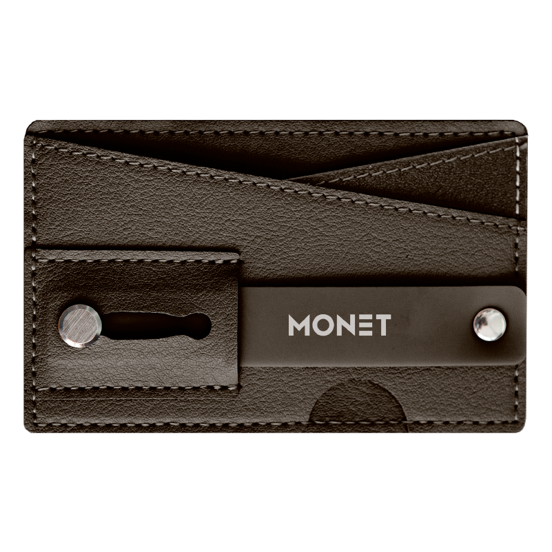 Monet Ultra Grip 3-in-1 Smart Phone Wallet | Card Holder | Kickstand | Brown