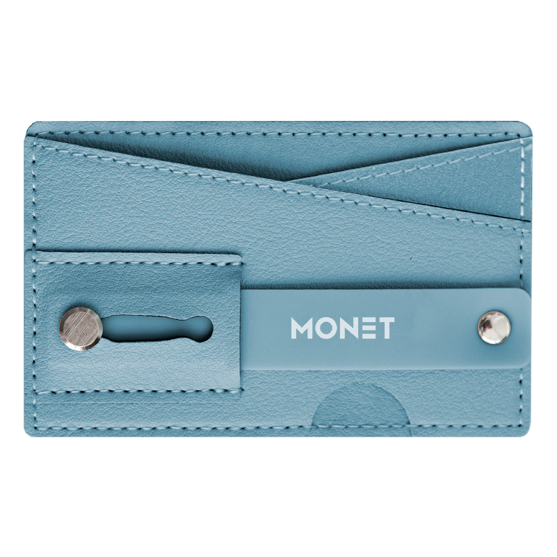 Monet Ultra Grip 3-in-1 Smart Phone Wallet | Card Holder | Kickstand | Light Blue