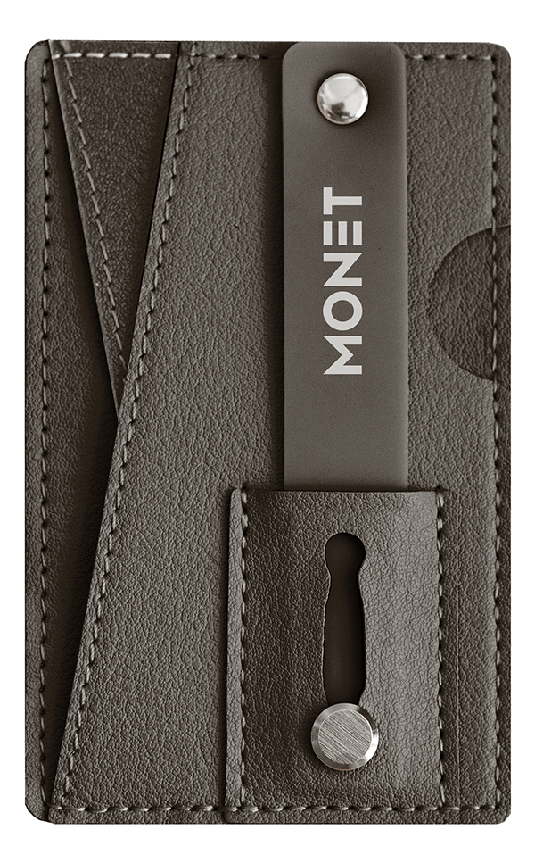 Brown Wallet Grip Kickstand from Monet