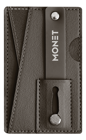 Image of Brown Wallet Grip Kickstand from Monet