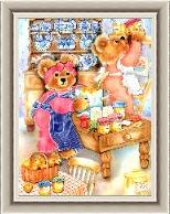 Teddies In The Kitchen