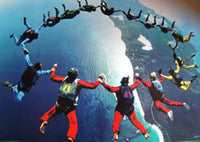 Free Fall Skydivers
