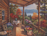 Log Cabin Porch I