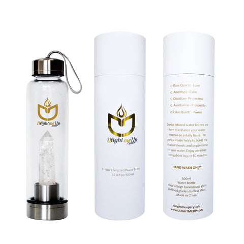 Energized Crystal Water Bottle - Clear Q