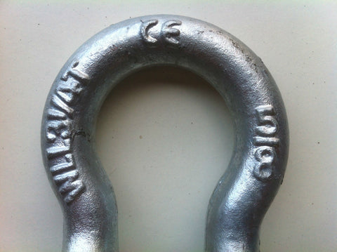 BOW SHACKLE - 3.2 TON - GALVANISED